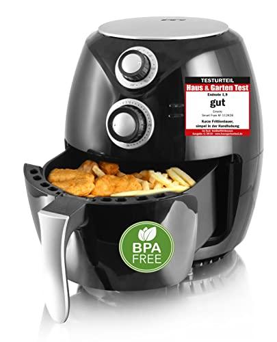 """Emerio Heißluftfritteuse, Airfryer, Smart Fryer, Test """"GUT"""", Frittieren ohne Öl, 3,6 Liter Volumen, 1400 Watt, AF-112828"""